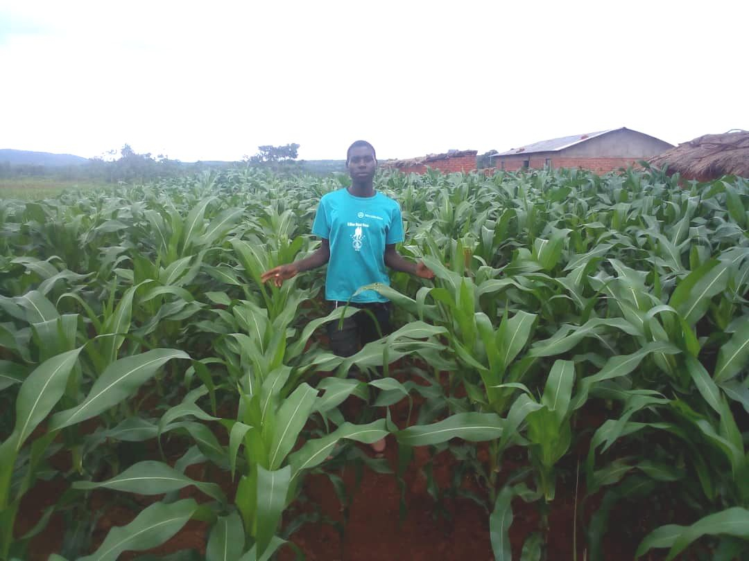 Innocent, a youth farmer from Chapamba Moyo village, Manyamula, northern Malawi